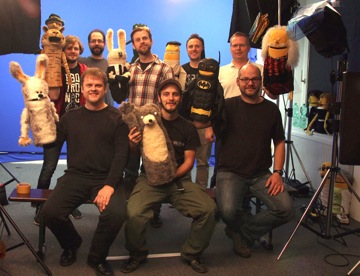 Gruppenbild Youtuber der Puppen Sketch Comedy auf YouTube